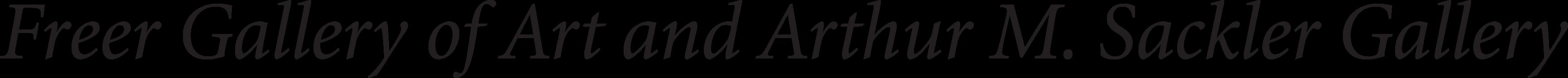Freer and Sackler Galleries logo
